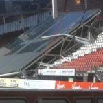 На стадионе АЗ обрушилась часть крыши